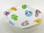 インストラクター養成講座|モールドクレイを使った皿|カトレアガラスクラフト研究会