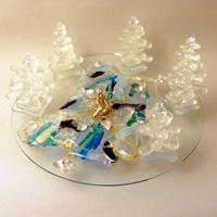 第10回カトレアガラスクラフト研究会作品展 奨励賞:奥山浩子さん「冬春」